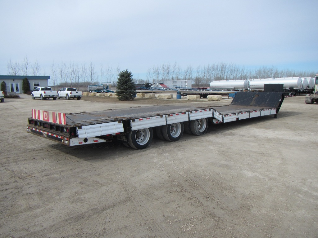 2012 Muv-All 53′ Tridem Double Drop Machinery Trailer