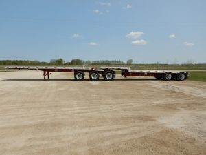 Flat Deck Trailer >> 2010 Lode King Super B Flat Step Deck Trailer 1007 1008